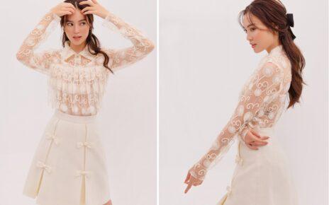 Ninh Dương Lan Ngọc thành công với mốt váy xuyên thấu