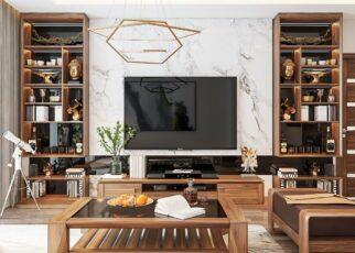 Nội thất gỗ giúp nâng tầm không gian sốn phòng khách của bạn lên